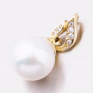 Zlatý přívěsek s perlou 53GZ-3153Z