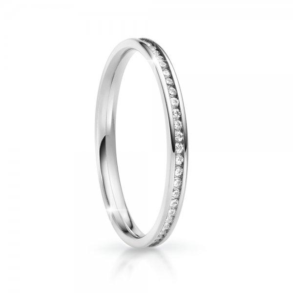 Snubní prsten se zirkony ke skládání SP-NS-04