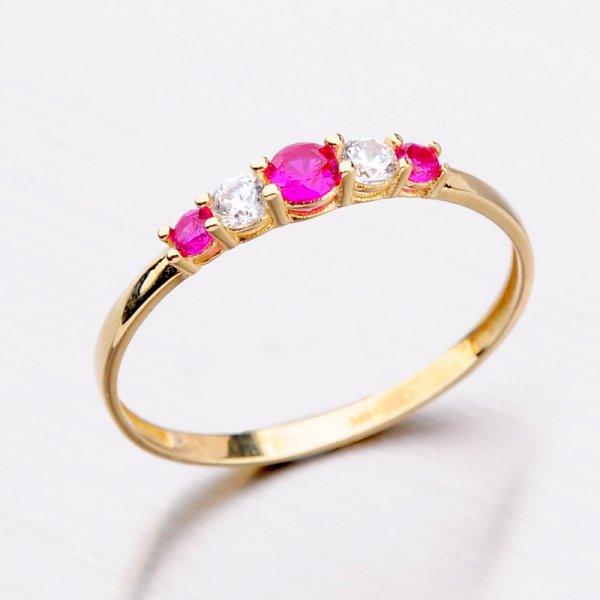 Zlatý prsten s rubíny 11-294