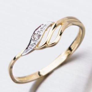 Zlatý prsten se zirkony 51GZ-8023Z