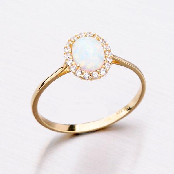 Zlatý prsten s opálem 11-306