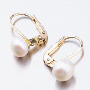 Visací náušnice s perlou 52GZ-8002Z-KL