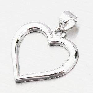 Stříbrný přívěsek srdce HST-13277
