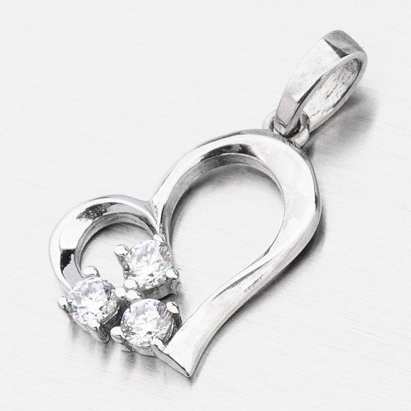 Zlaté srdce se zirkony 117P-131639