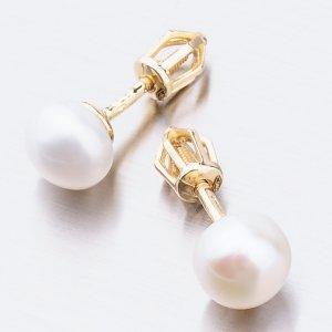 Pecky s bílou perlou 52GZ-8002Z-SR