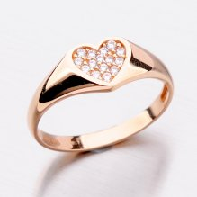 Prsten z růžového zlata 11-284