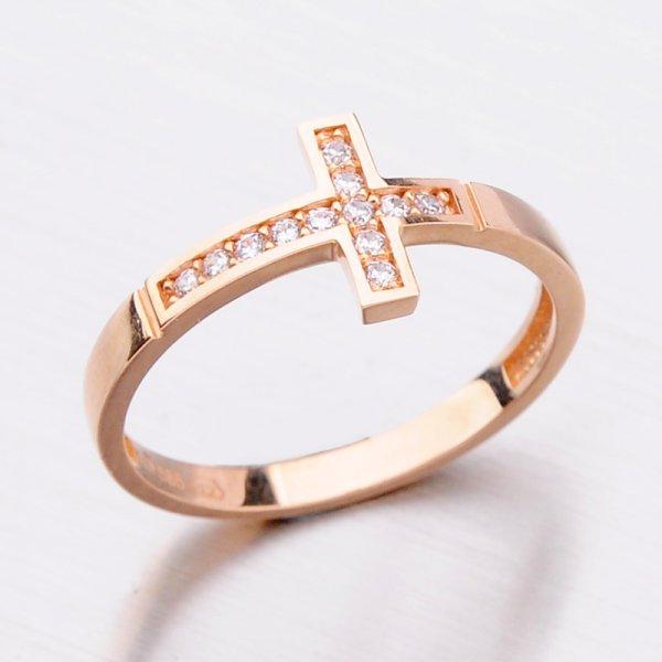Prsten z růžového zlata 11-286