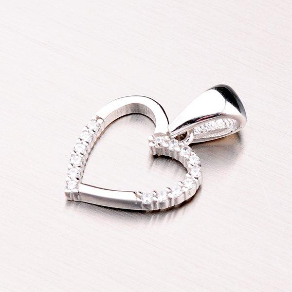 Stříbrný přívěsek srdce GLM13-029