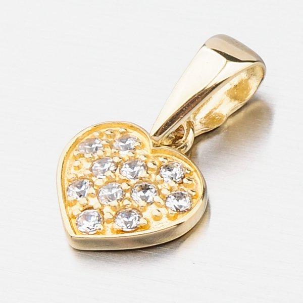 Zlaté srdce se zirkony 682P-130597