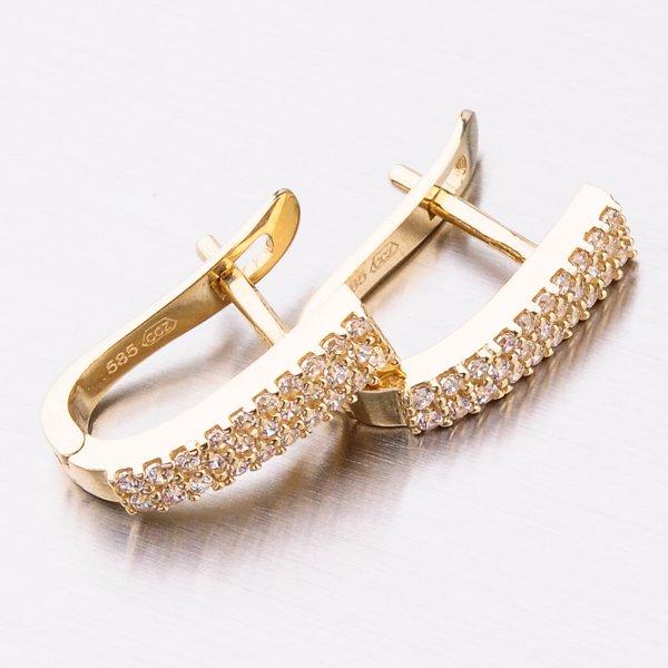 Zlaté náušnice 12-580