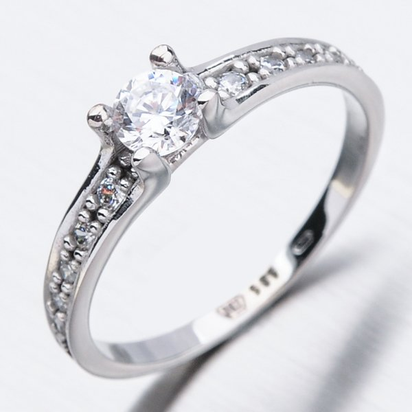 Zlatý prsten se zirkony 51GZ-2354B