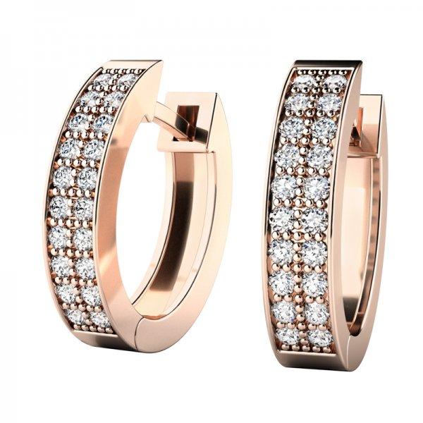 Růžové oválky s diamanty 10950-CV