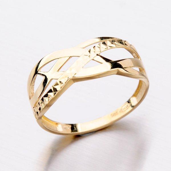Zlatý dámský prsten 11-299