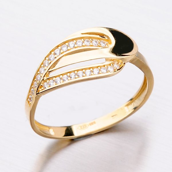 Zlatý dámský prsten 11-296
