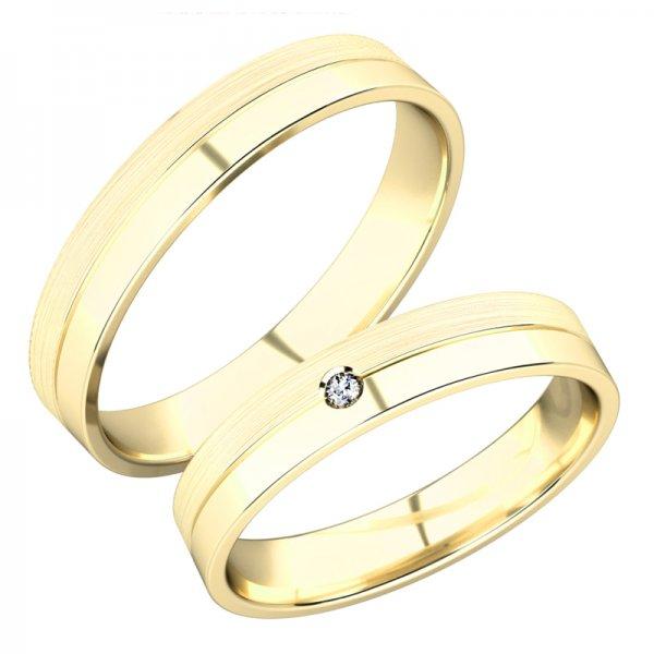 Snubní prsteny ze žlutého zlata SP-288