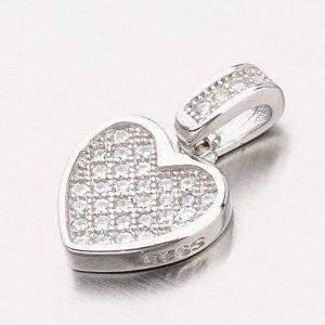 Stříbrný přívěsek srdce HST-13194