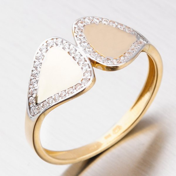Zlatý prsten se zirkony 111P-118189