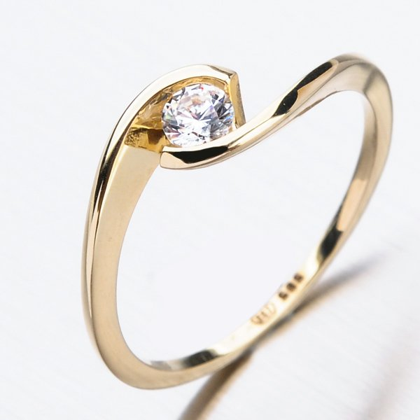 Zlatý prsten 51DZ-6134Z-ZIR