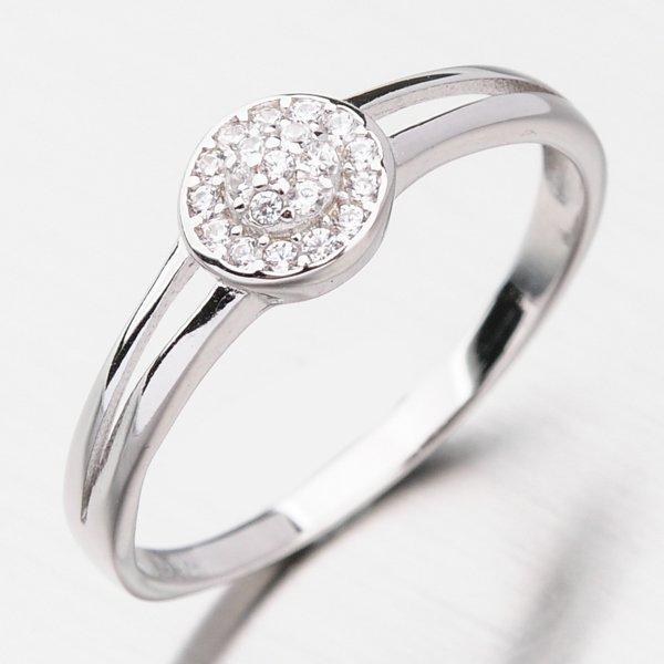 Stříbrný prsten se zirkony GST-11412