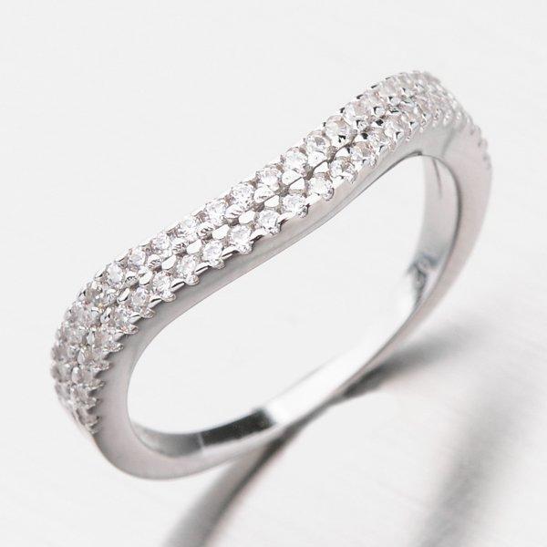Stříbrný prsten se zirkony GST-11230