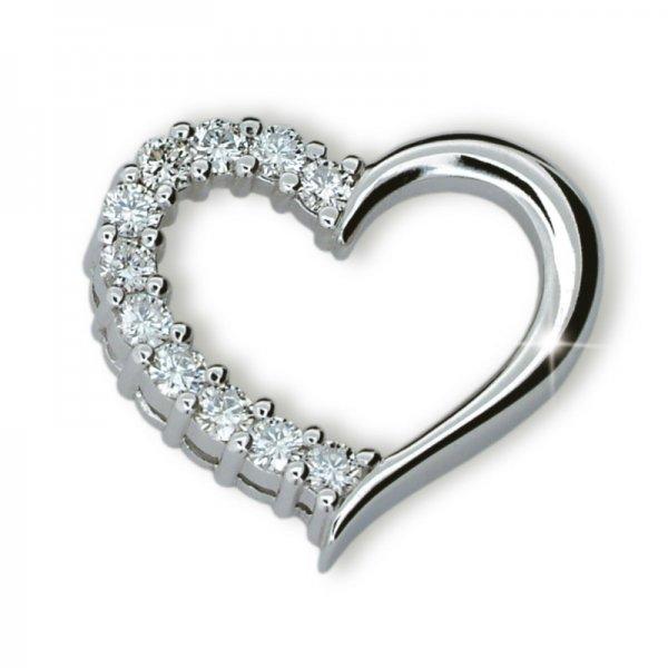 Přívěsek - srdce s diamanty DF1920