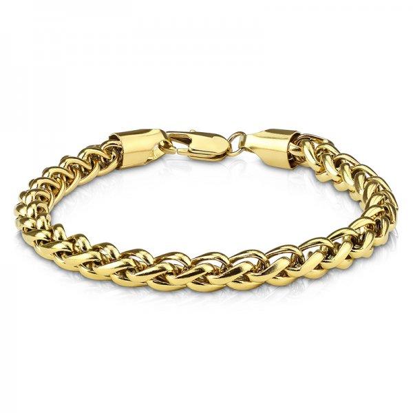 Náramek pro muže z oceli v barvě žlutého zlata SSBHBJ-140760-GD