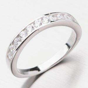 Stříbrný prsten se zirkony GST-11246
