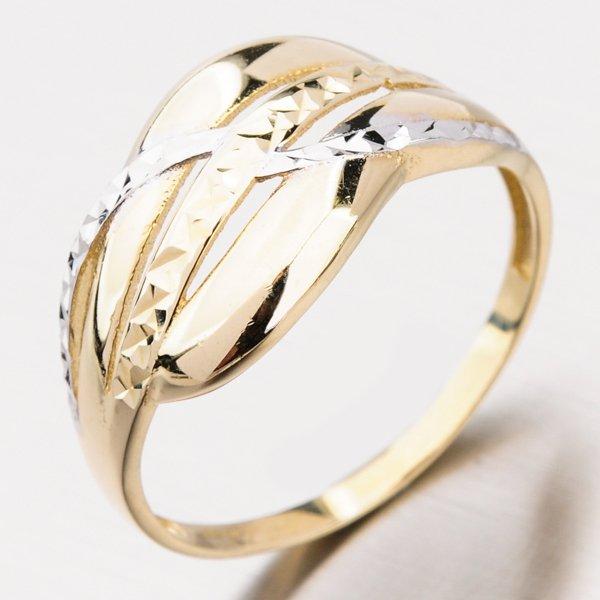 Zlatý dámský prsten bez kamenů PKL21-007