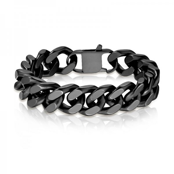 Ocelový náramek v černé barvě SBHBJ-1401-MK