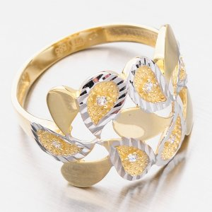 Zlatý dámský prsten 111P-111671