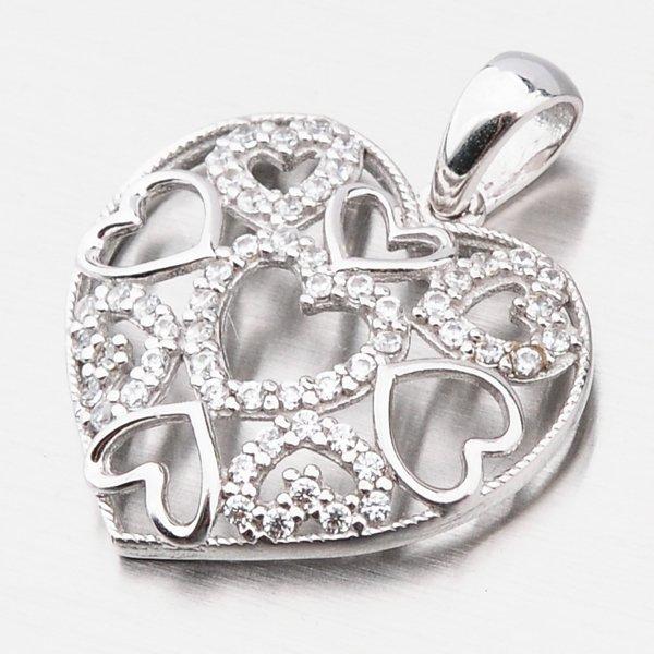Zlaté srdce se zirkony 117P-131398