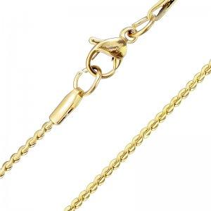 Řetízek z oceli pro ženy v barvě žlutého zlata SSNHBJ-1516-GD
