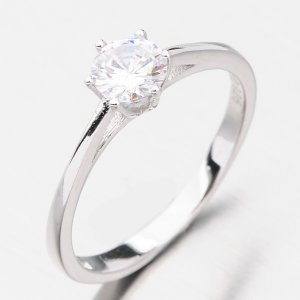 Stříbrný prsten se zirkonem GST-11272
