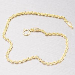 Kroucený dutý zlatý náramek Valis 44-1359