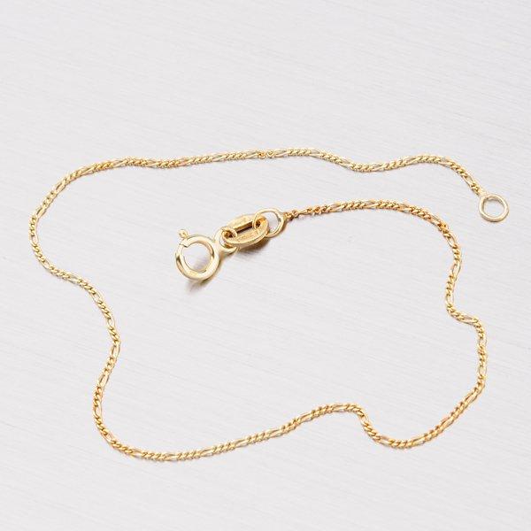 Zlatý náramek - Figaro 3+1 44-1108