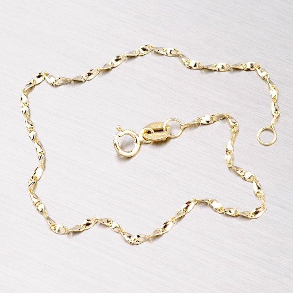 Kroucený zlatý náramek 44-1048