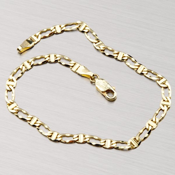 Zlatý náramek - Figaro 1+1 44-1164