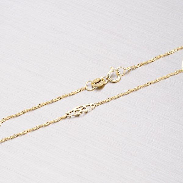 Zlatý řetízek s ozdobami 45-1144