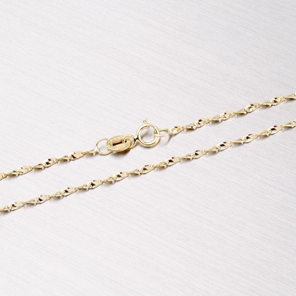 Kroucený zlatý řetízek 45-1048