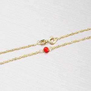 Zlatý řetízek s červenými korály 45-1141