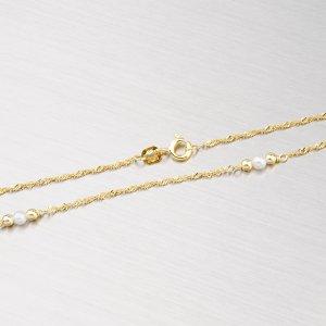 Zlatý řetízek s perličkami 45-1142