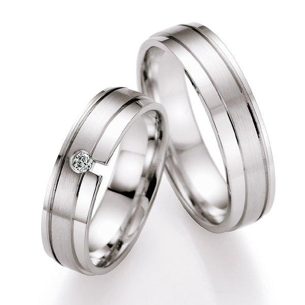 Snubní prsteny s diamantem SP-523