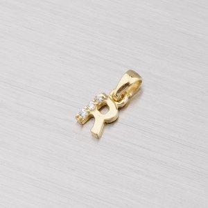 Zlaté písmenko R se zirkony 532-1200R