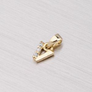 Zlaté písmenko V se zirkony 532-1200V