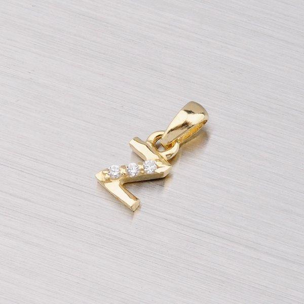 Zlaté písmenko Z se zirkony 532-1200Z