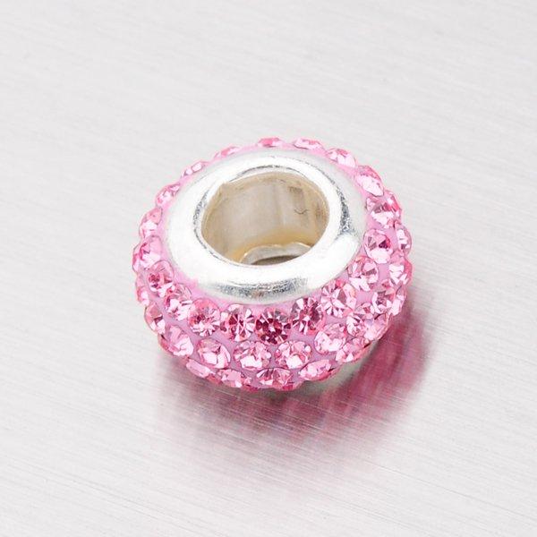 Přívěsek ve tvaru kuličky s růžovými zirkony 54068