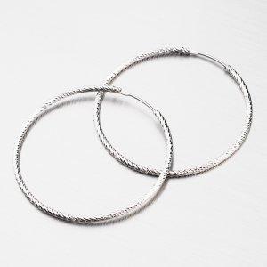 Náušnice facetované kruhy 40 mm M8018