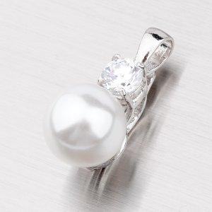 Přívěsek s perlou a zirkonem 5721