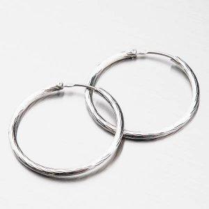 Kruhy stříbrné s rhodiováním 30 mm M7996D150