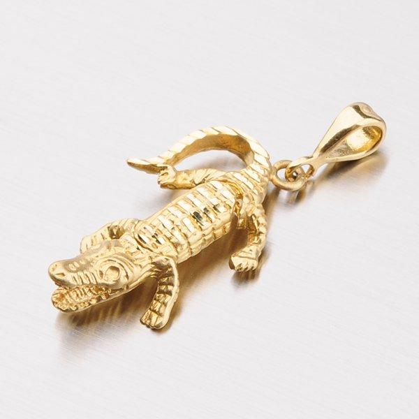 Zlatý přívěsek - krokodýl 1-407
